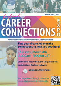 Career Connections Expo Thursday, March 4 11am-4pm Online