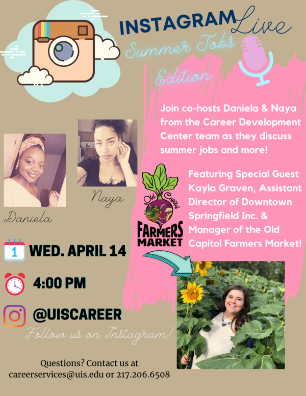 Join us on Instagram Live on April 14 at 4pm CST! https://www.instagram.com/uiscareer/