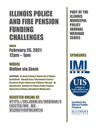 ILLINOIS POLICE AND FIRE PENSION FUNDING CHALLENGES Webinar Flyer